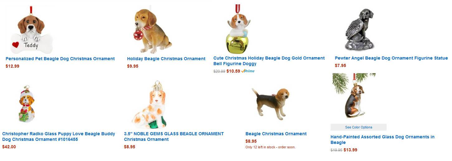 beagle christmas stockings. Beagle Christmas Ornaments