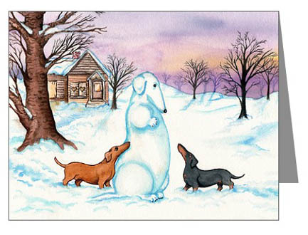 click here for these dachshund christmas cards dachshund christmas cards - Christmas Dachshund