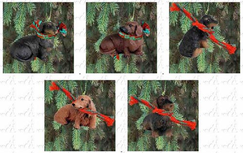 click here for more information dachshund christmas ornaments