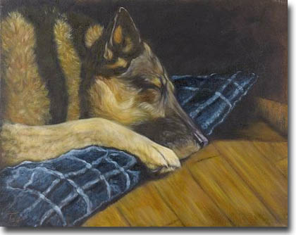 German shepherd dog painting canvas prints and german shepherd dog
