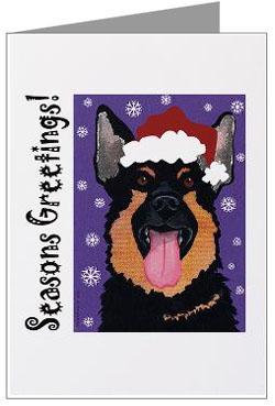 German Shepherd Dog Christmas Cards Amp Ornaments