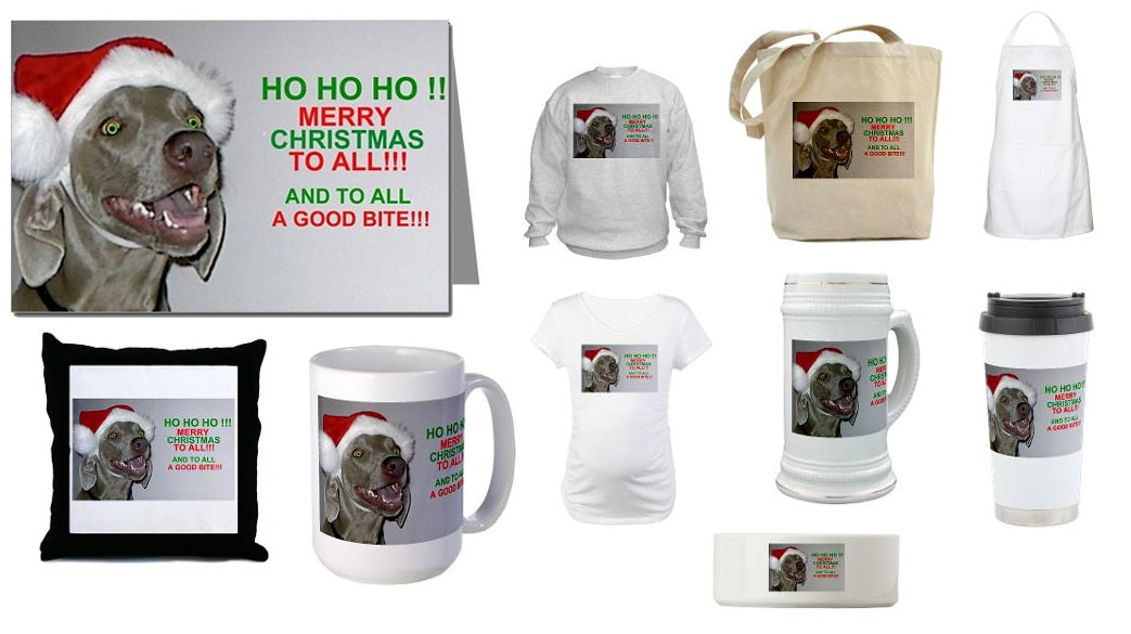 The Weimaraner Shop - Christmas cards and Holiday decor
